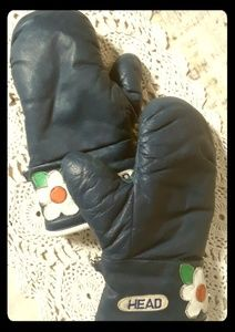 Vintage Ski Winter Mittens Groovy by HEAD